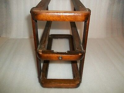 Singer Treadle Sewing Machine Drawer frame Dark Finish Wood Left for 2 drawers