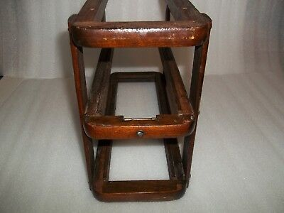 Singer Treadle Sewing Machine Drawer frame Dark Finish Wood Right for 2 drawers