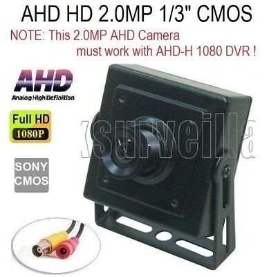 """AHD 1080P 2.0MP 1//3/"""" Sony IMX330 CMOS 3.7mm Motion Detector styled Spy Camera"""