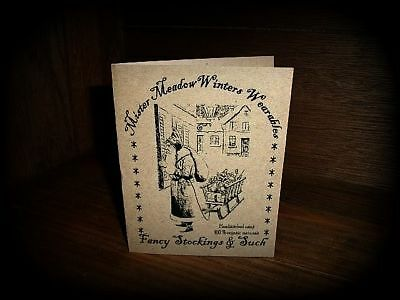 ~*Primitive Christmas Mr. Meadow Winters Note Cards*~
