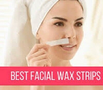 16 Facial Wax Strips & Finishing Wipes For Face Chin Upper Lip Jaw Hair Removal
