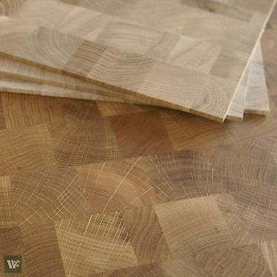 Endgrain Oak Overlay Tiles - Unfinished Wood Sheets - Flooring / Cladding - OE10