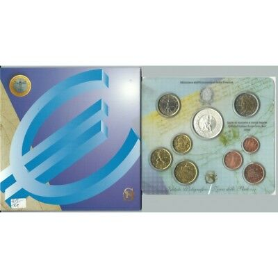 2006 Italy Serie Divisional Euro - Ipzs - 9 Coins Fdc With Silver
