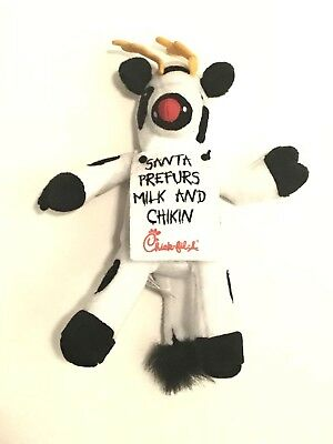Chick Fil A Christmas Reindeer Cow Santa Prefurs Milk and Chikin, NEEDS CLEANING