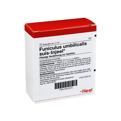 HEEL Funiculus Umbilicalis Suis 10 amps Homeopathic Remedies