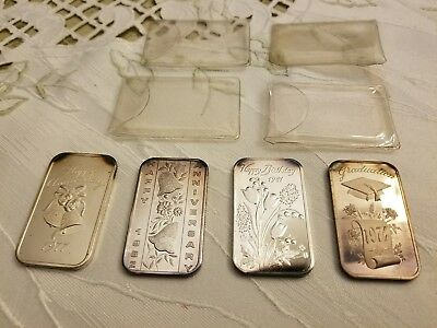 Lot of 4 - Madison Mint 1 OZ 999 Fine Silver Bars