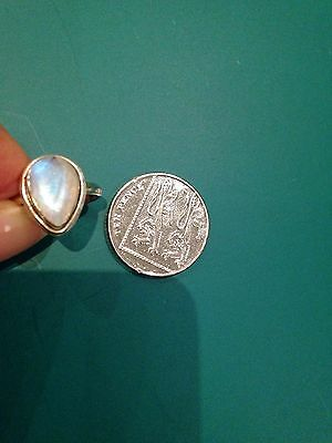 Moonstone Set In Silver Ring