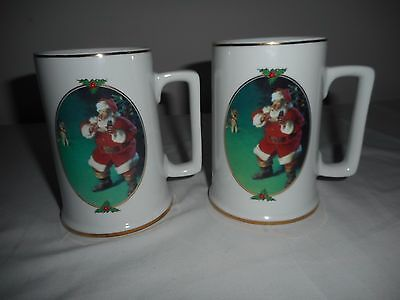 Cocoa Cola Coffee Cups 1996 Collector Edition Christmas When Friends Drop In