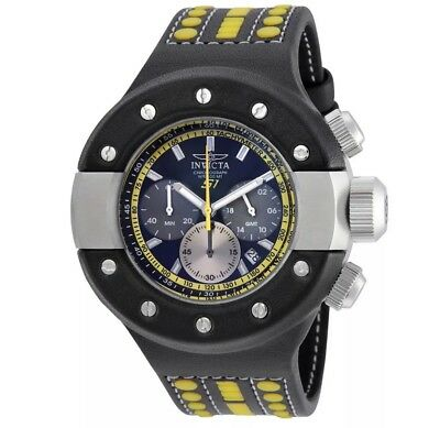 Invicta S1 Rally Men's Black Analog Round Chronograph Date Leather Watch $995RP