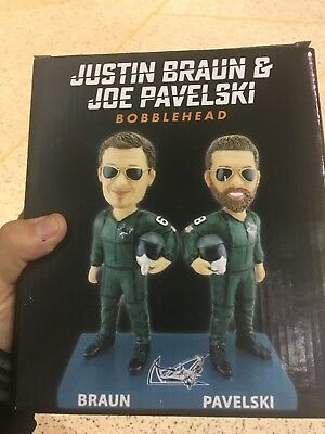 San Jose Sharks Justin Braun Joe Pavelski SGA Bobblehead fighter Pilot Barracuda
