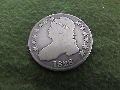 1828 Bust Half Dollar Overton Square Base 2 Small 8 Variety 50 Cent Silver Coin