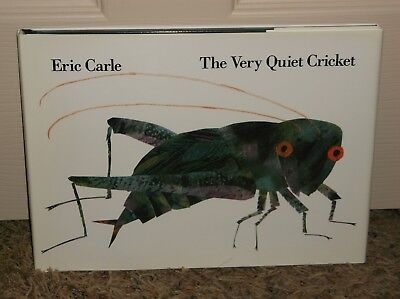 The Very Quiet Cricket by Eric Carle, New Hardcover(1990) w/ Dust Cover & Sounds