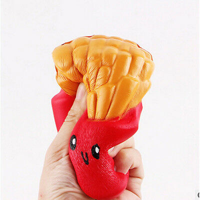 US STOCK Cute Slow Rising Squishy Jumbo French Fries Scented Bread Squeeze Toy