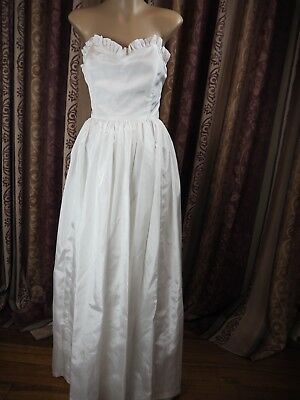 Vintage 80s Wedding Dress Gown Size 10/12