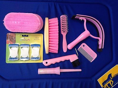 Horse & Pony Grooming Kit In Pink Purple Or Blue - 9 Piece