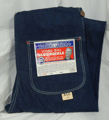 1940s NOS Young Bill Blue Buckle Overalls