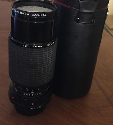 Sigma ZOOM-K II 1 : 45 f = 70-210 Multi-Ciated Lens for Canon w/Case