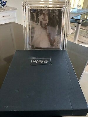 "Crystal Picture Frame 8"" x10"" Marquis by Waterford 152021 -NEW"