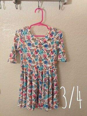 DDS Dot Dot Smile Dress Ballerina 3/4 NWT Triangles and Circles