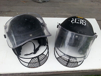 Bathurst Mt Panorama Riot - 1983 Police TRG Tactical Response Group helmets