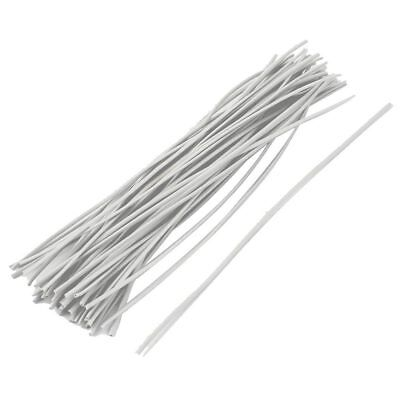 3X(50x Reusable Package Twist Tie Candy Bag Ties 150mm Long White C7X1