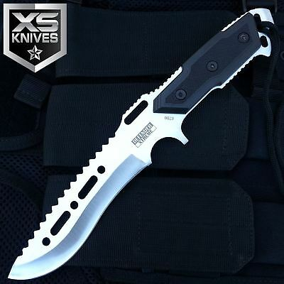 "12"" Rambo Tactical Combat Survival Full Tang Fixed Blade Hunting Knife W/ Sheath"