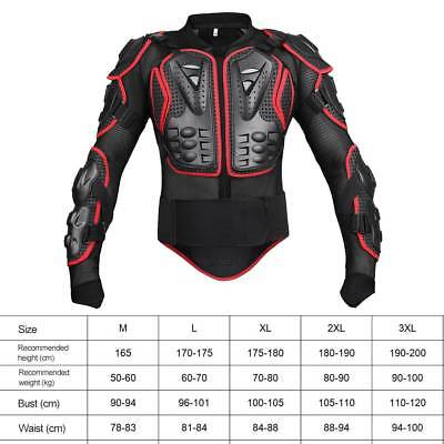 Motorcycle Off-road Body Armour Motocross Jacket Spine Elbow Shoulder Protection