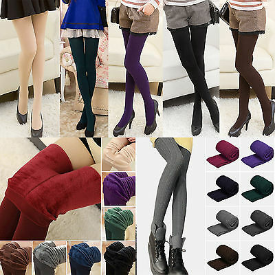Women Winter Thick Warm Fleece Thermal Elastic Warm Skinny Leggings Stocking