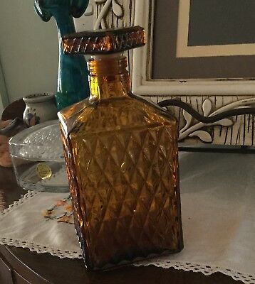 Amber Glass Decanter