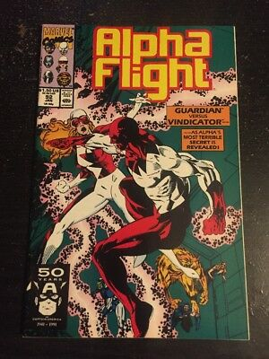 Alpha Flight#92 Incredible Condition 8.5(1991) Guardian Vs Vindicator!!