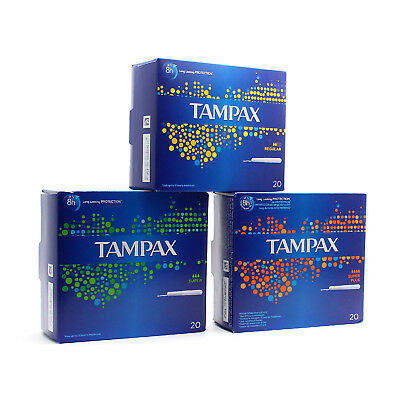 New Tampax Tampons Applicator 20 Pack