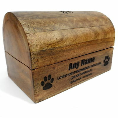 15cm 7cm x 8cm Treasure Chest Wooden Pet Urn For Ashes Dog Urn Cremation Box