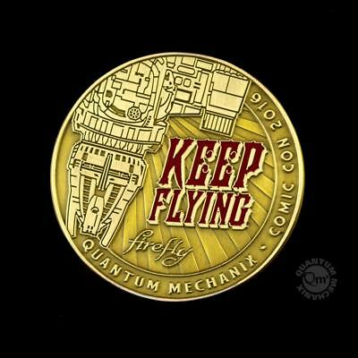 FIREFLY Münze KEEP FLYING Challenge Coin SDCC 2016 Exclusive NEU+OVP Comic Con