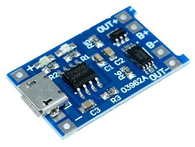 Micro-USB-TP4056-li-ion li-po lipo Battery Charger Module & Discharge Protection