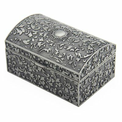 Small Vintage Metal Jewelry Box Storage Organizer Durable Jewelry Chest for Her