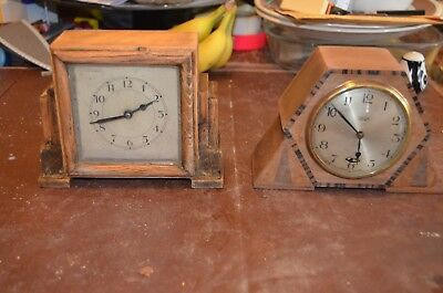 two old clocks, one is Art Deco, restored but not working
