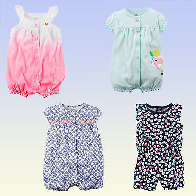 NWT Carter s Baby Girls One Piece Romper Sunsuit Spring Summer(9 months) New 646c4863f