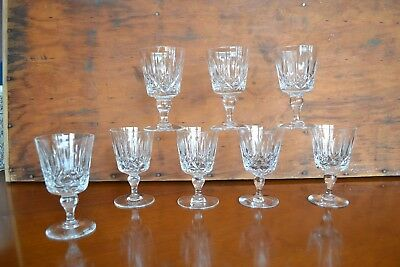 Vintage Crystal - Wine Glasses - Cross and Olive - Set of 8