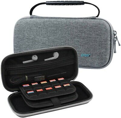 Portable Travel Carrying Case For Nintendo Switch With 10 Game Cartridge Holders