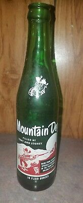 VINTAGE  Rare  MOUNTAIN DEW BOTTLE  Filled by TONY and STONEY