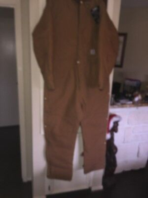NEW Mens 52 Tall CARHARTT Duck Coveralls Jumpsuit Quilt-Lined X02BRN