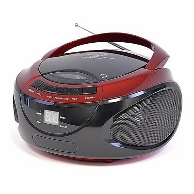 Stereo Cd Player With Am/fm Radio Lloytron Portable - Red
