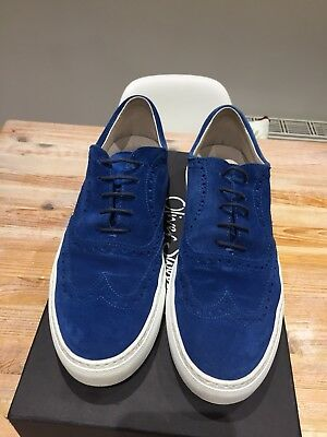 "Oliver Sweeney ""Preci"" Brogue Trainers - Blue Suede - UK9 - Replacement Box"
