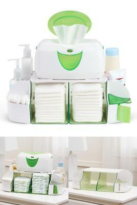 Wipe Warmer Station Baby Diaper Towel Nappy Bag Box Carrier Formula Milk Green