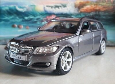 Bmw 335 Touring - Grey 1.24 Diecast Model Car Personalised Boxed Boys Toys New