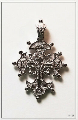 Orthodox Silver  Cross Pendant Jc Jesus Christ Crucifix (Ts118)