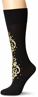 Pretty Polly Women's Baroque Embellished Knee Highs, Black/Multi, One Size