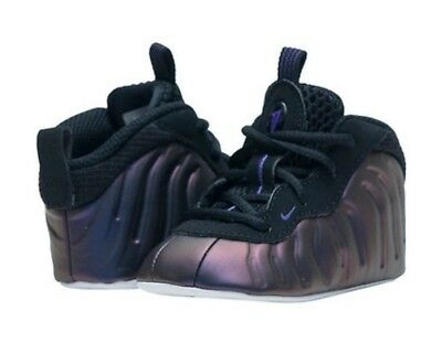 Infant NIKE Lil Posite One CB Eggplant Crib Shoes 644790 005 Foamposite Size  4c
