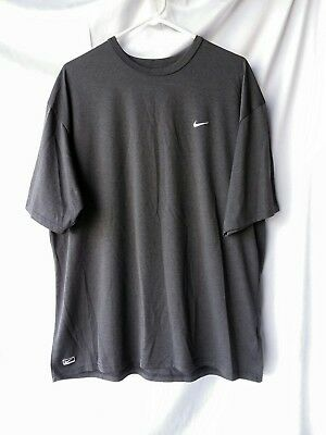 NIKE MENS Athletic SHIRT DARK GRAY SIZE XL NWOT
