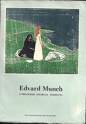 ✤ Edvard Munch Lithographs Etchings Woodcuts Los Angeles Museum Of Art1969 ✤